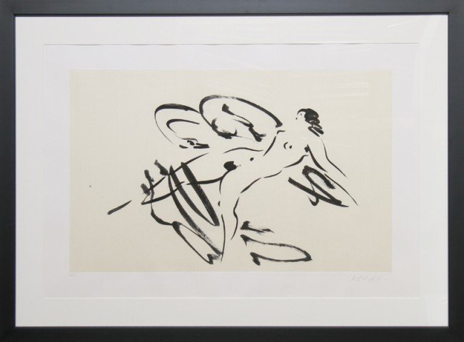 3: Reuben Nakian, Leda and the Swan 4, Etching and Chin