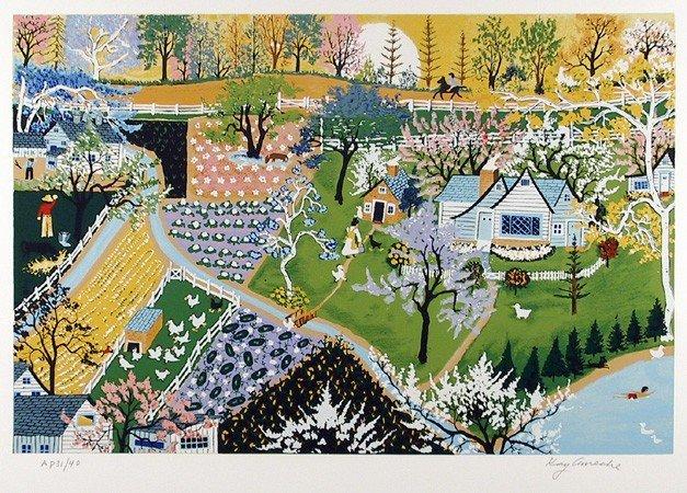 9: Kay Ameche, Spring Fever, Serigraph