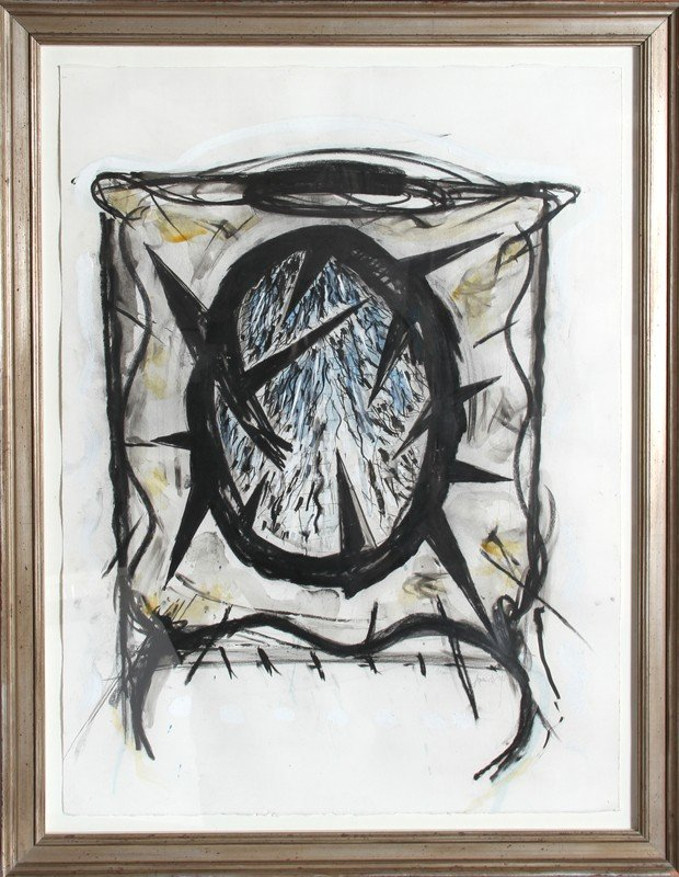 10: Gregory Amenoff, Crown, Mixed Media Painting