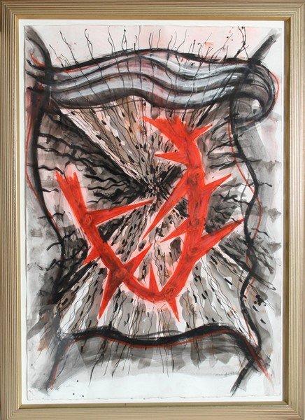 11: Gregory Amenoff, Expulsion, Mixed Media Painting