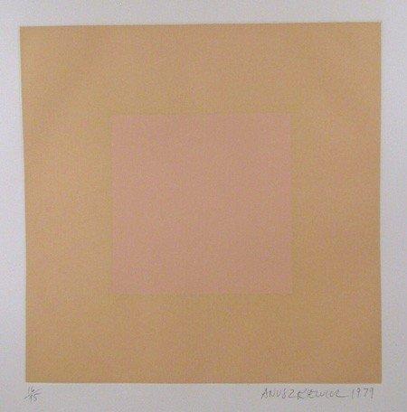 14: Richard Anuszkiewicz, Op-Art Intaglio Aquatint Etch