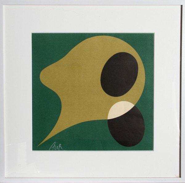 17: Jean Arp, Abstract Silkscreen