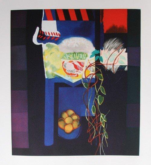 19: Walter Bachinski, Cyclamen on Model Stand, Aquatint