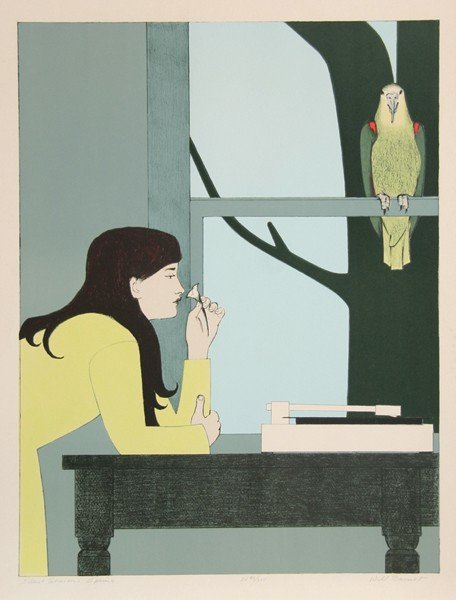 23: Will Barnet, Silent Season - Spring, Lithograph