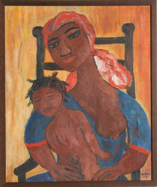 1: Adrienne, Mother and Child, Acrylic Painting