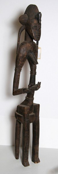2: African Mother Carved Wood Sculpture