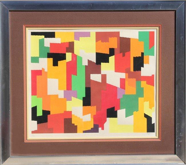 4: Yaacov Agam, Op-Art Silkscreen