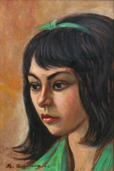 11: Raul Anguiano, Portrait, Oil Painting
