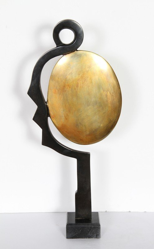12: Constantin Antonovici, Mirror, Bronze Sculpture