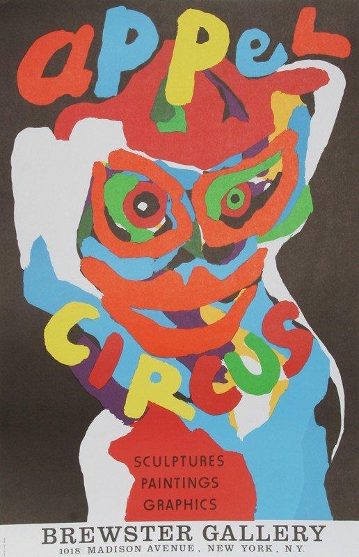 16: Karel Appel, Cirque at Brewster Gallery, Lithograph