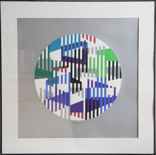 5: Yaacov Agam, Op-Art Geometric Serigraph