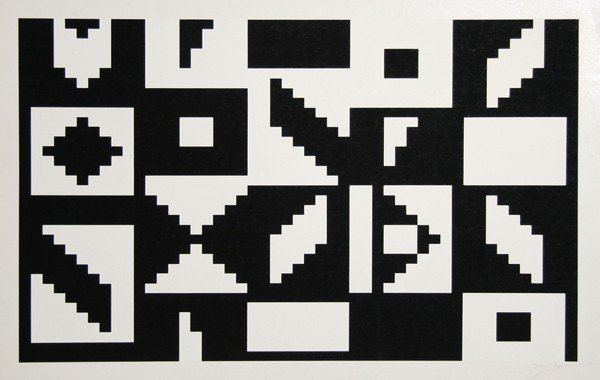7: Yaacov Agam, Colors of Love, Serigraph