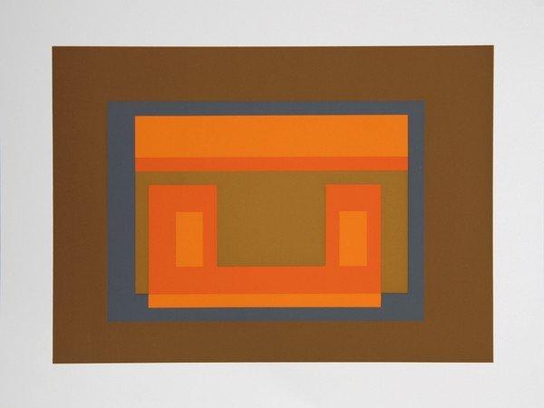 8: Josef Albers, Geometric Modern Silkscreen