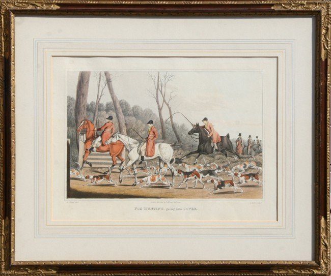 11: Henry Thomas Alken, Fox Hunting, Cover, Hand Colore