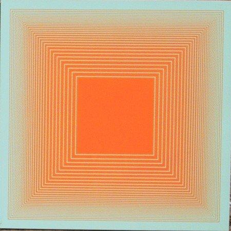 16: Richard Anuszkiewicz, Op-Art Silkscreen on Plastic