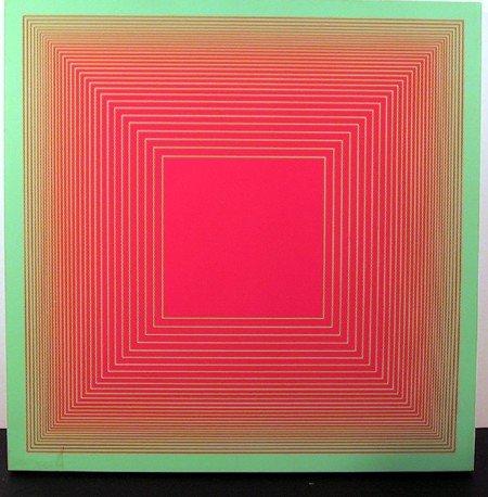 17: Richard Anuszkiewicz, Op-Art Silkscreen on Plastic