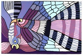 Victor Delfin, Purple Fighting Cocks, Serigraph