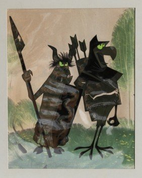 Disney, Bird Archer And Warrior, Production Cel