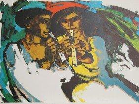 Jorge Dumas, Autumn, Lithograph