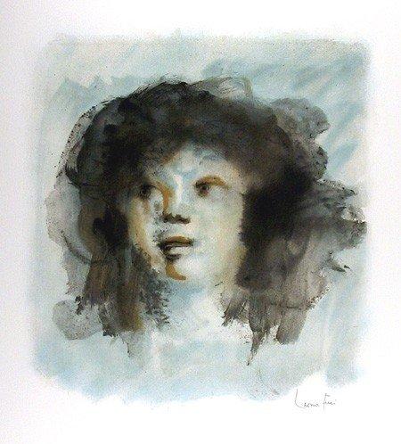 124: Leonor Fini, Tete de Jeune Fille, Lithograph