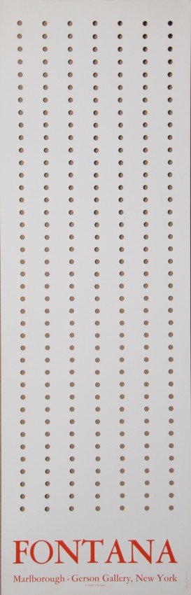 126: Lucio Fontana, Marlborough-Gerson Gallery Exhibiti