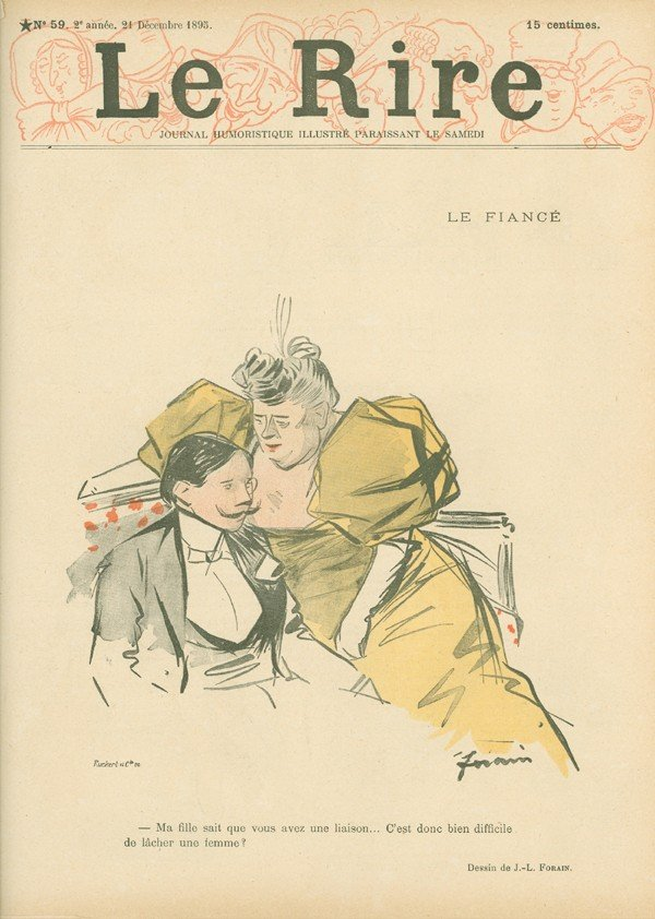 127: Jean-Louis Forain, Le Rire No. 59, 10 Page Newspri