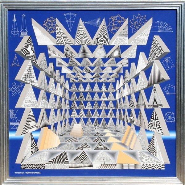 134: Pedro Friedeberg, Tesoreta Trigonemetrica, Acrylic