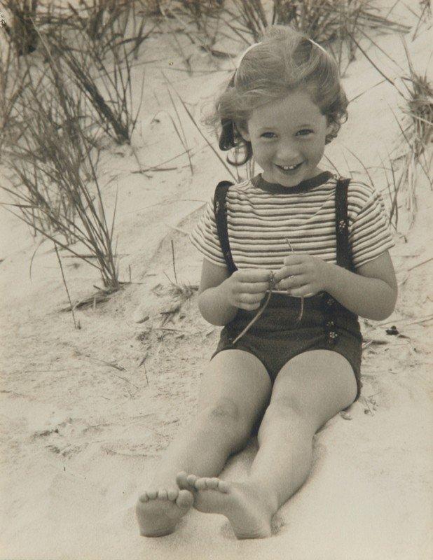 137: Rowena Fruth, Girl on Beach, Photograph