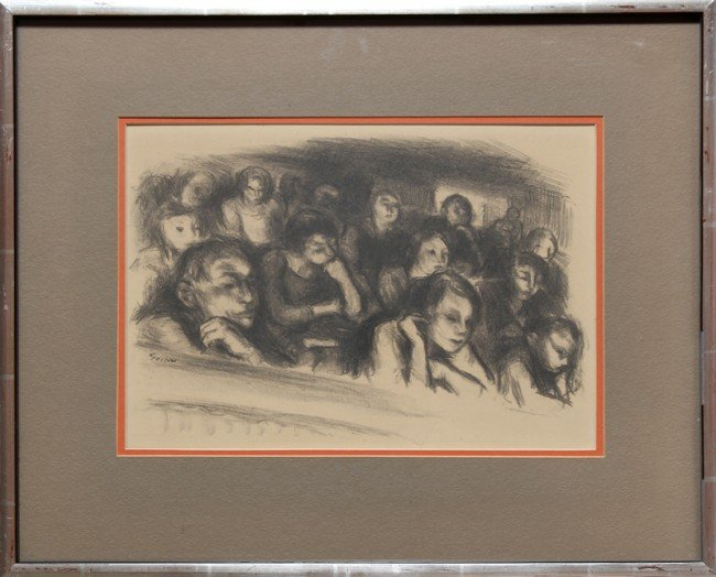 140: Henry Martin Gasser, Study of Crowd, Drawing