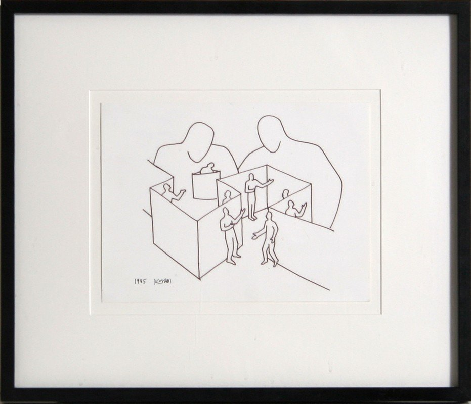 194: Mark Kostabi, Hidden Signifiers, Marker Drawing
