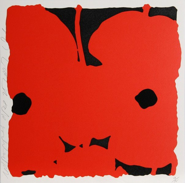 327: Donald Sultan, Red Poppies, Silkscreen