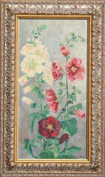 5: Margaretha E. Albers, Flowers, Oil Painting