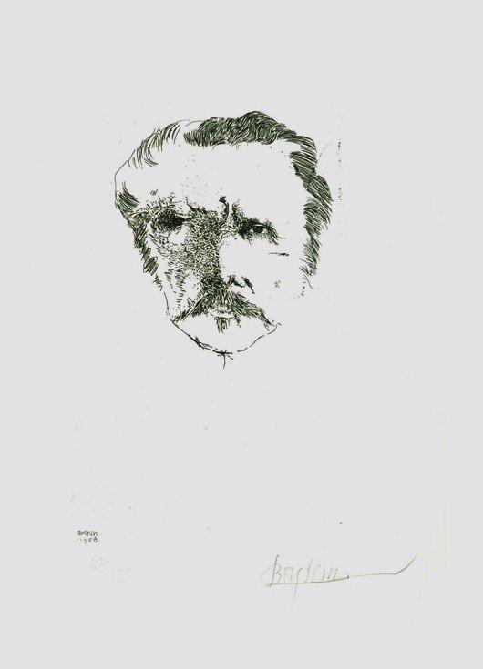 19: Leonard Baskin, Carriere, Etching