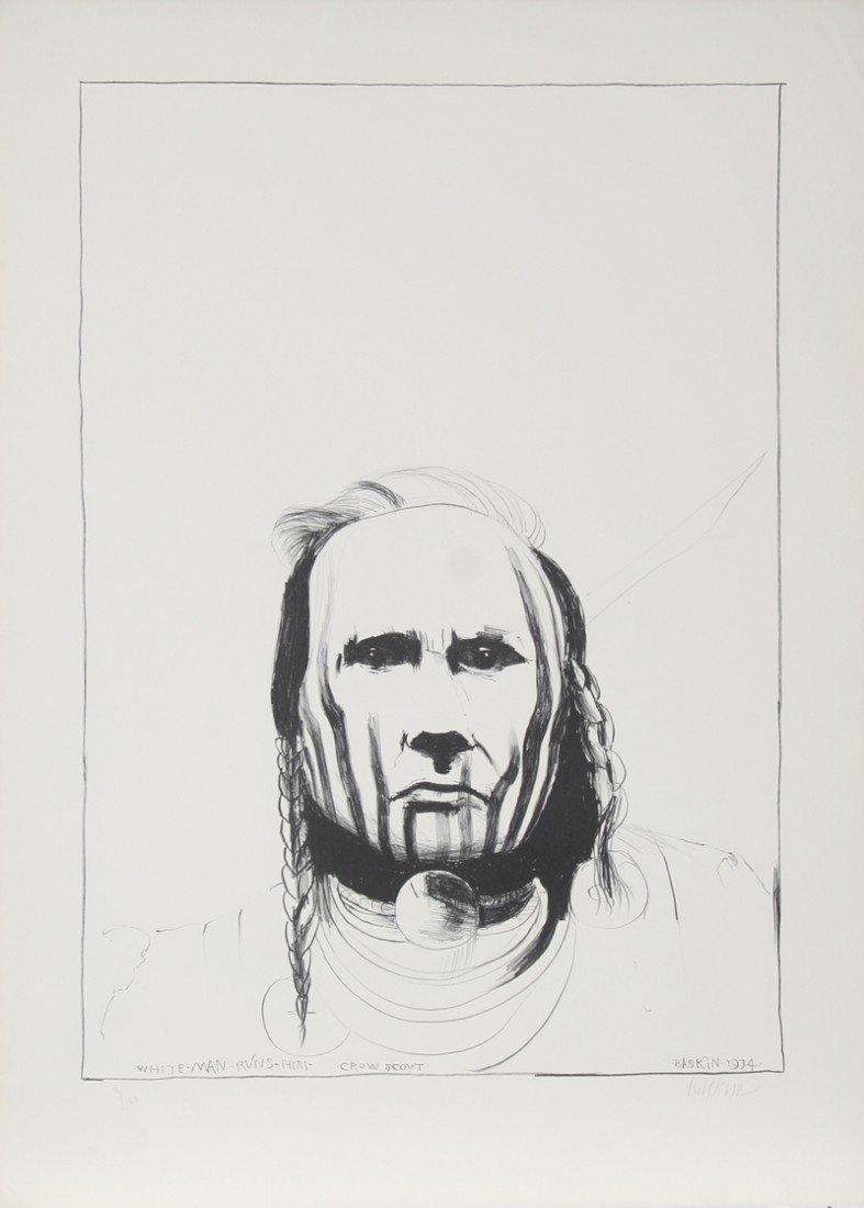 20: Leonard Baskin, White Man - Runs Him - Crow Scout,