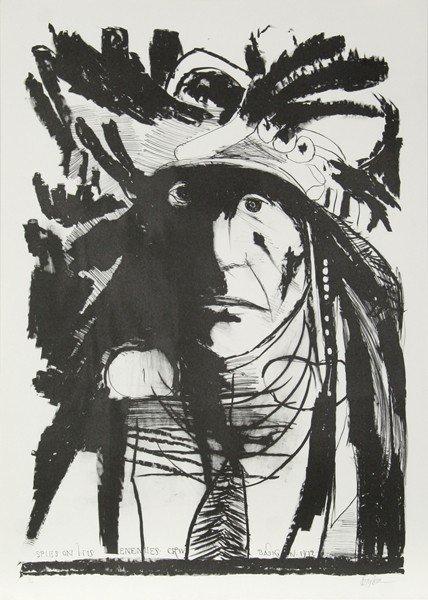 21: Leonard Baskin, Spies on his Enemies - Crow, Lithog