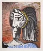 275: Pablo Picasso, Tete de Femme, Lithograph