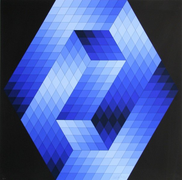 366: Victor Vasarely, Gestalt 5, Serigraph
