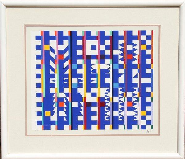 7: Yaacov Agam, Op-Art Geometric Serigraph