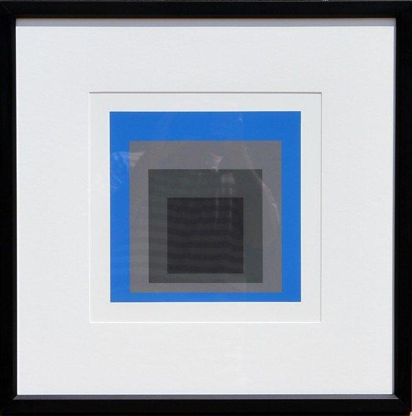 12: Josef Albers, Homage to the Square, Silkscreen