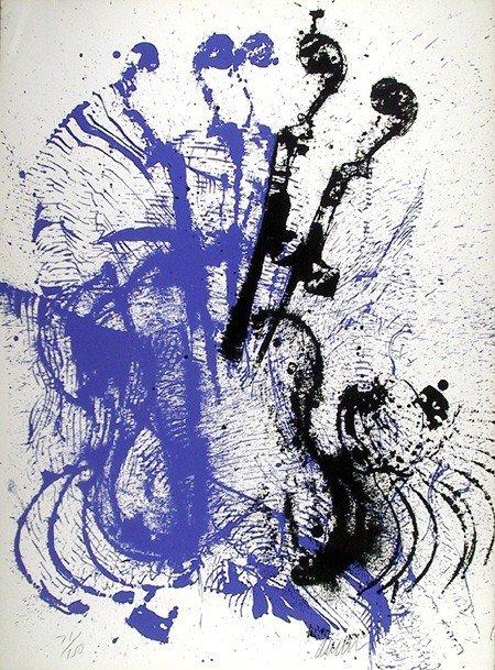 24: Arman, Electric Concerto, Serigraph
