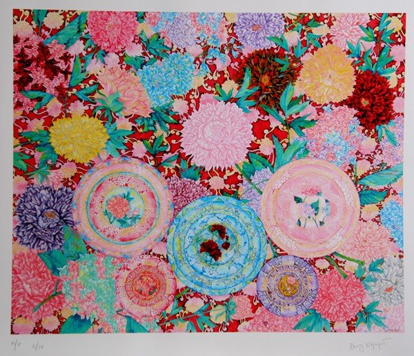 223: David Nguyen, Flowers 18, Lithograph