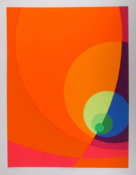1: Herbert Aach, Split Infinity #12BS, Serigraph