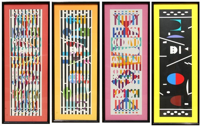 2: Yaacov Agam, Menorah Series of 4 Serigraphs