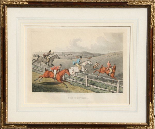 6: Henry Thomas Alken, Fox Hunting, Hand Colored Etchin