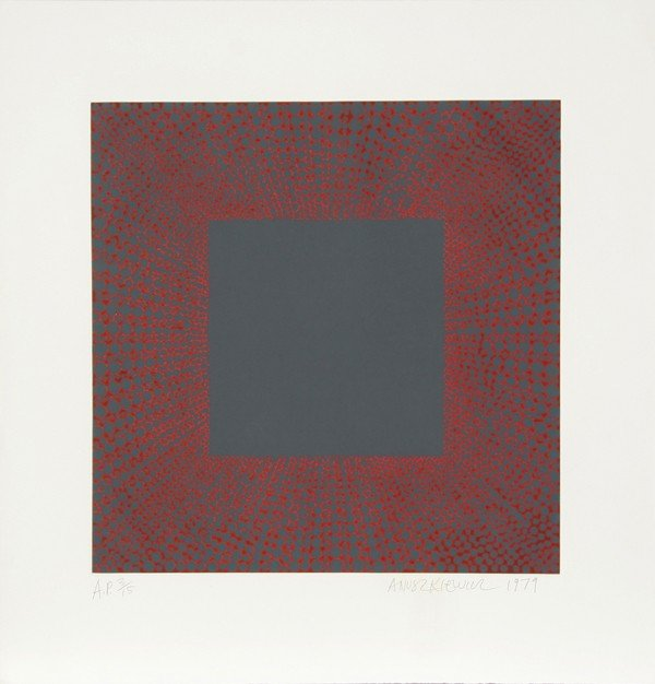 7: Richard Anuszkiewicz, Op-Art Intaglio Aquatint Etchi