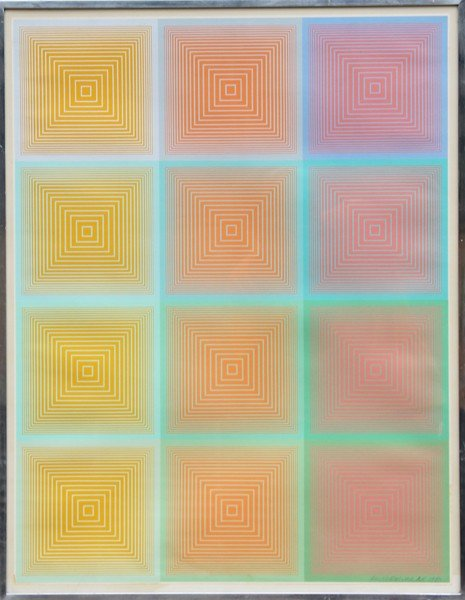 8: Richard Anuszkiewicz, Inward Eye #9, Serigraph