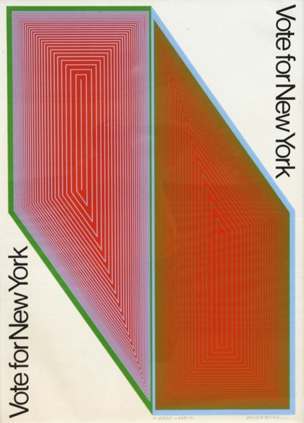 9: Richard Anuszkiewicz, Vote for New York, Serigraph P
