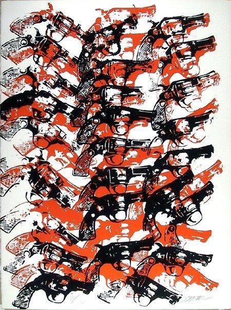 11: Arman, Bloody Guns, Serigraph