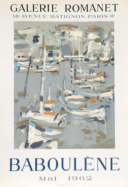 16: Eugene Baboulene, Exhibition Galerie Romanet, Litho