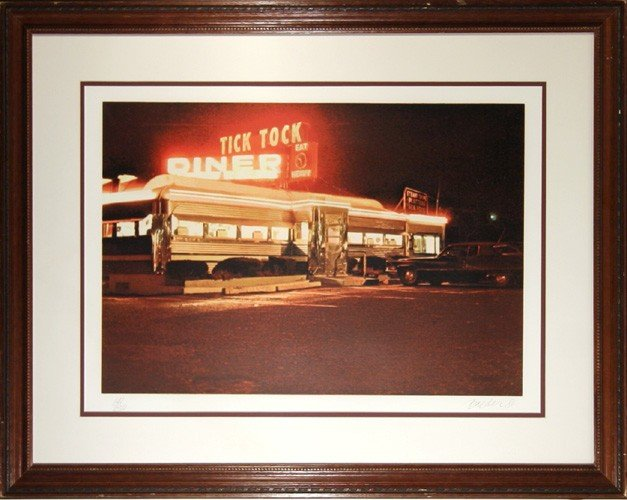 17: John Baeder, Tick Tock Diner, Serigraph